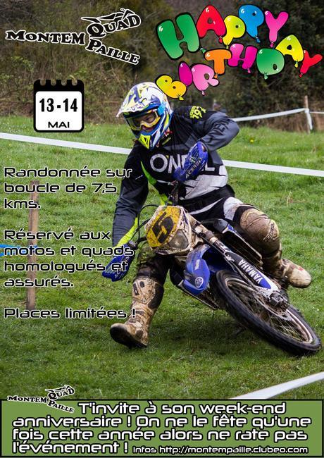 Week-end enduro motos et quads à Montepaille (41), le 14 et 15 mai 2017