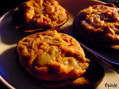 Mini pizza sur pain de seigle