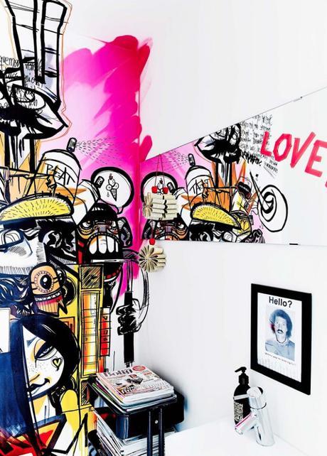 Une maison pour les passionnés de street art et de couleurs