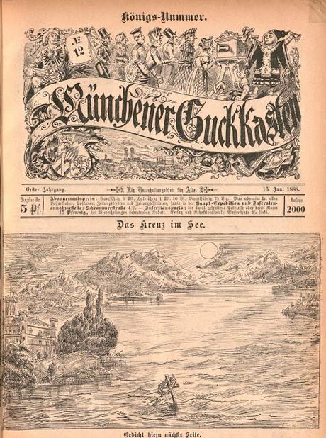 La croix dans le lac Starnberg, un dessin de 1888.
