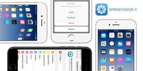 Cydia : Springtomize 4 disponible pour le jailbreak iOS 10