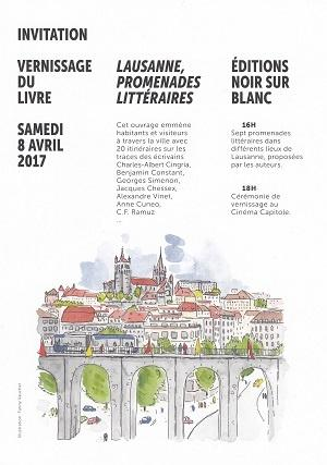 Lausanne, promenades littéraires, d'Isabelle Falconnier, Daniel Maggetti et Stéphane Pétermann