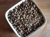 Crumble d'épinards sarrasin noisettes (sans gluten)