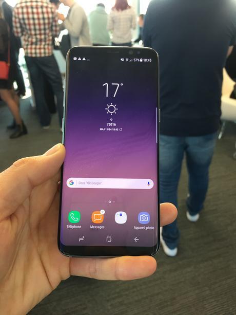 J'ai pu prendre en main les nouveaux smartphones de chez Samsung : le GalaxyS8 et le GalaxyS8 Plus