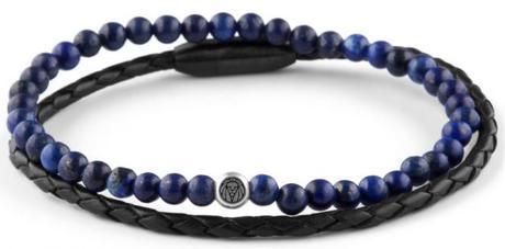 Double bracelet homme William marine
