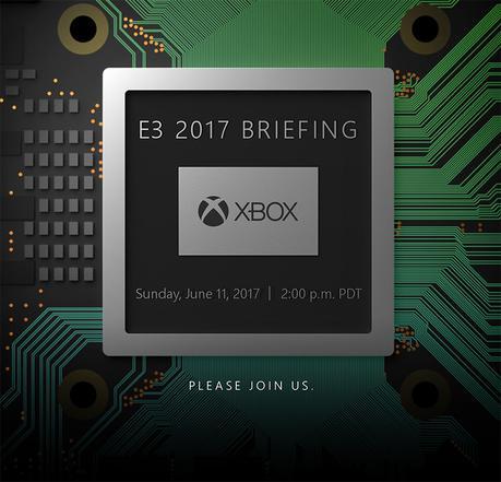 L'invitation de Microsoft à l'effigie du Scorpio Engine, le système sur puce alimentant sa prochaine console.