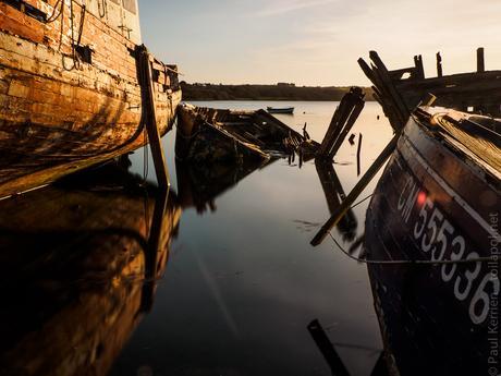marée haute le soir à Rostellec en Crozon (8 photos)