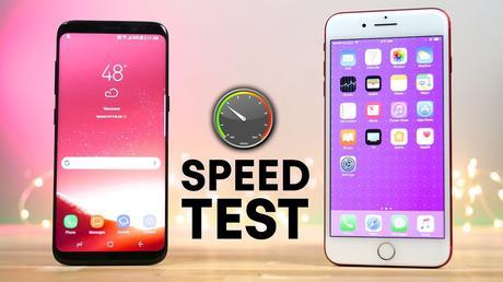 Galaxy S8 vs iPhone 7 Plus : test de rapidité