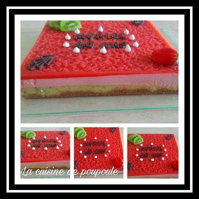 Bavarois aux kiwis et fraises au thermomix ou sans