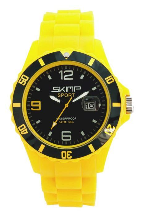 Montre Silicone  Skimp 42mm Yellow Cab  jaune