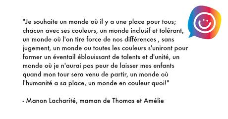 Autisme, les couleurs de Manon #30couleurs Julie Philippon Mamanbooh
