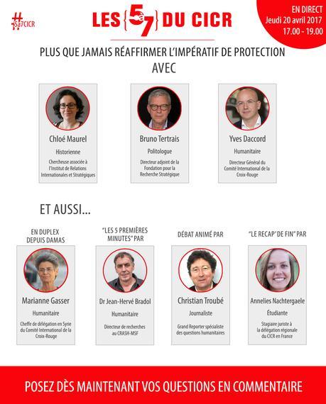 Le 20 avril, les débats «5 à 7 du CICR» font peau neuve…
