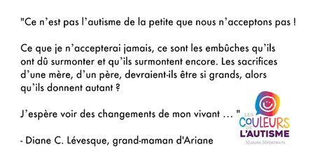 Autisme, la couleur d'Ariane #30couleurs Julie Philippon Mamanbooh
