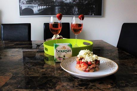 Nous avons testé: Tartare de saumon, fraises et Boursin® Bouquet de basilic & Ciboulette