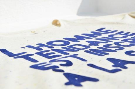 T-shirt L'Homme Tendance collection capsule: flocage velours