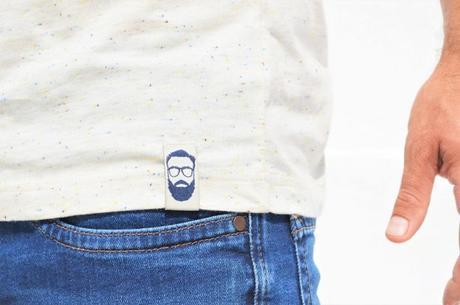 T-shirt L'Homme Tendance collection capsule: étiquette cousue