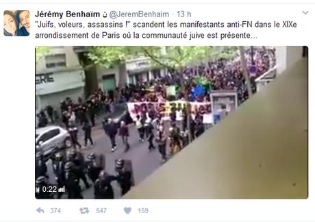 l'alliance objective de la #LDJ et du #FN contre les #antifa #fakenews