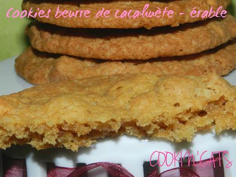 Cookies beurre de cacahuete erable sans lait sans gluten paperblog - Cookies beurre de cacahuete ...