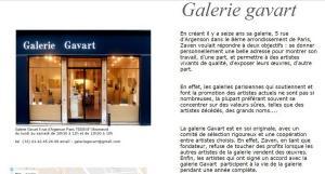 Galerie GAVART    Exposition Claude LARCHE  19 Avril au 9 Mai 2017