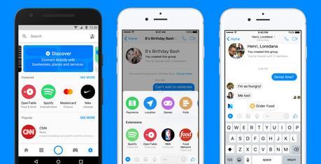 Messenger accueille des extensions et un répertoire d'entreprises