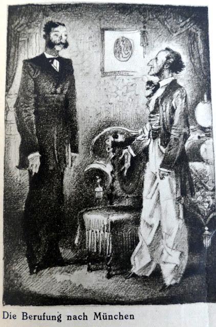 Wagner, l'appel royal à Munich, une caricature du prof. Scheurich