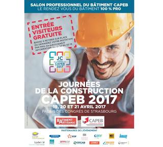 Sur votre agenda : L'Afpa participe aux Journées de la construction de la Capeb  du 19 avril au 21 avril 2017
