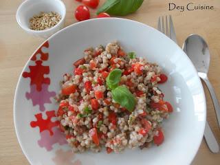 Sarrasin, tomate & basilic