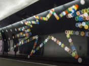 mètres d'art signés Neil Wood station métro Charles Gaulle Étoile
