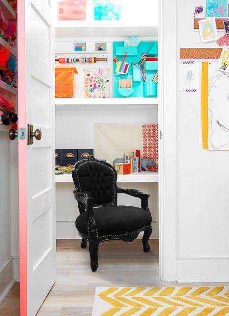 une tranche de porte haute en couleur pour relooker ses portes intérieures