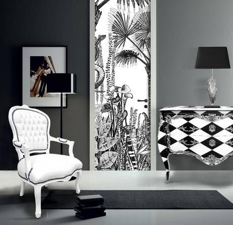 du papier peint pour relooker ses portes intérieures