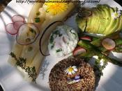Assiette bucolique légumes printemps,quinoa poélé Sabarot oeuf poché