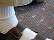 Grâce, sandales chaussettes
