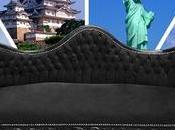 Exercice style autour d'un canapé noir