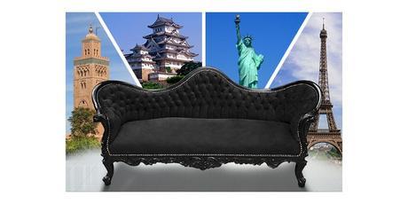 Exercice de style autour d'un canapé noir