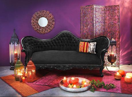 canapé de style Napoléon III Royal Art Palace mêlé à une touche d'exotisme orientale