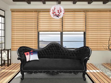 canapé de style Napoléon III Royal Art Palace dans une décoration japonaise minimaliste