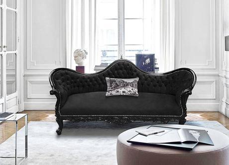 canapé de style Napoléon III Royal Art Palace dans un intérieur chic parisien
