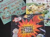 Feuilletage d'albums DOCUMENTAIRES Atlas monde illustré autrefois L'incroyable histoire l'univers