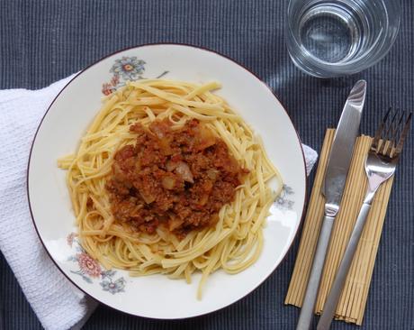 Spaguettis à la bolognaise