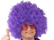 Perruque disco violette