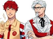 Voilà serait logos fast-food mode manga