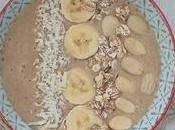 Smoothie bowl amande, banane, caroube