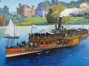 château Berg, voilier steamer Starnberg, carte postale ancienne.