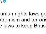 Theresa n'en cure droits l'homme