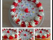 Victoria sponge cake fraises thermomix sans