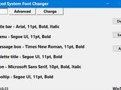 Advanced System Font Changer
