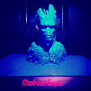 Portrait de Groot imprimé avec la Makerbot replicator 5+