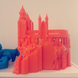 Chateau imprimé avec la Makerbot replicator 5+