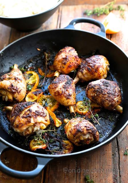 Poulet grillé au sumac et au citron