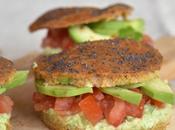 Burgers veggie sans gluten paprika, avocat, coriandre tomates